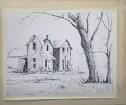 draw a Mystery House