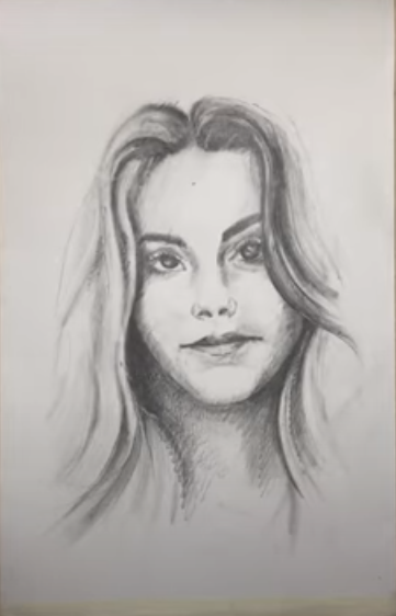 Draw Sketch of a Girl