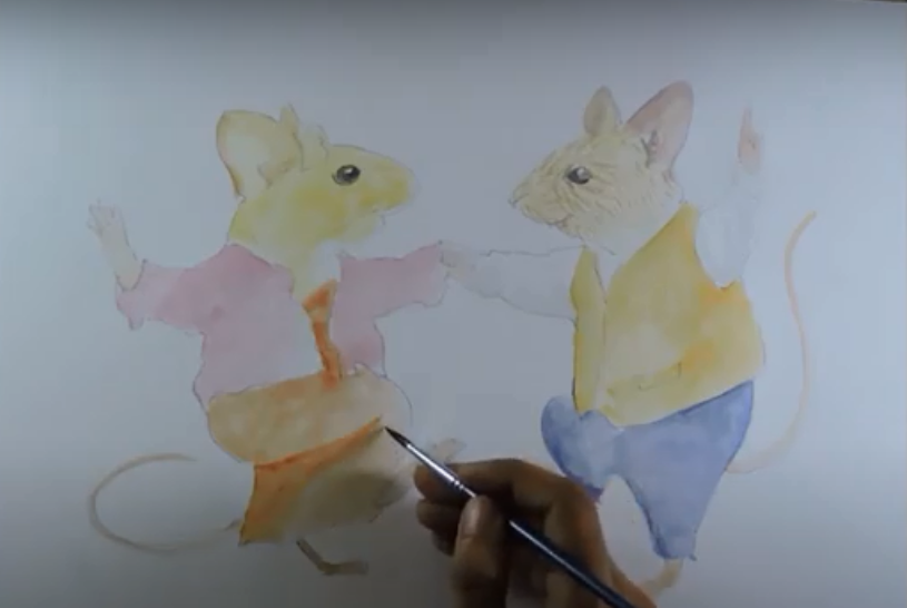 how to draw a mouse and mice