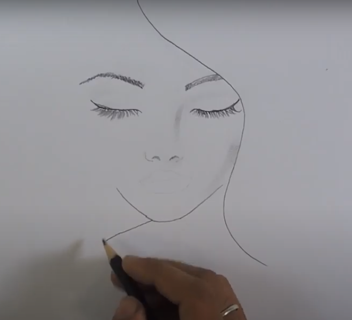 how to draw a girl beautiful girl face