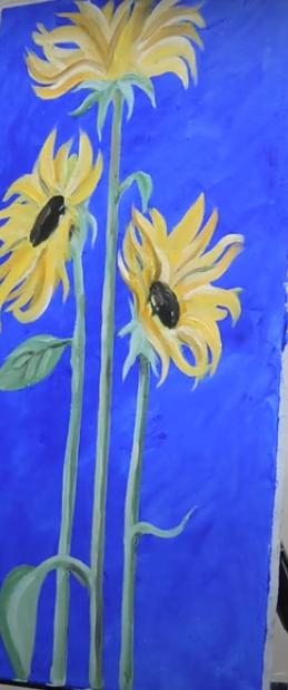draw a sunflower