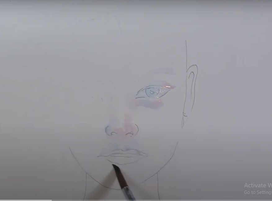 draw a girl face