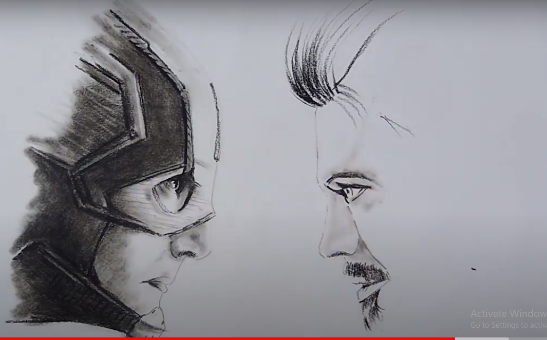 Draw Captain America VS. Iron Man