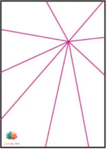 How to draw spider web
