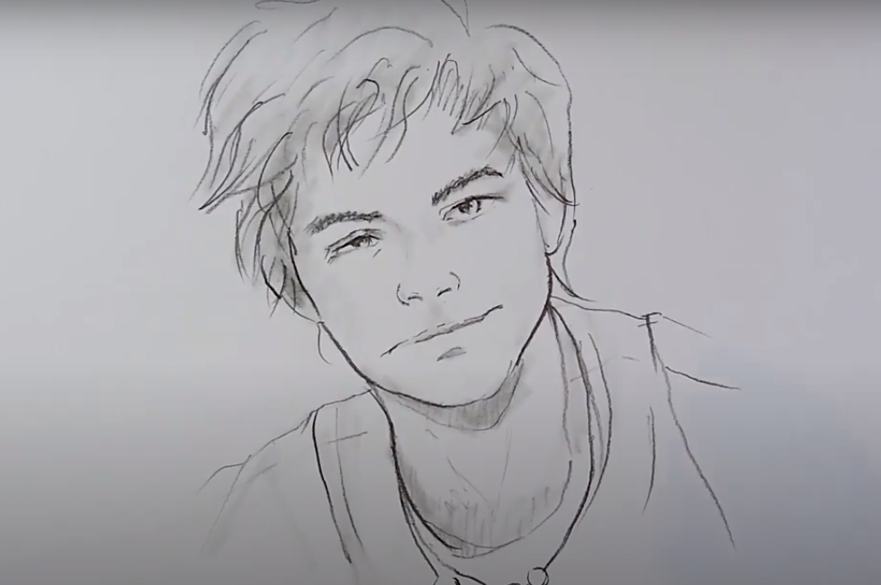 How to draw Boy Face easy