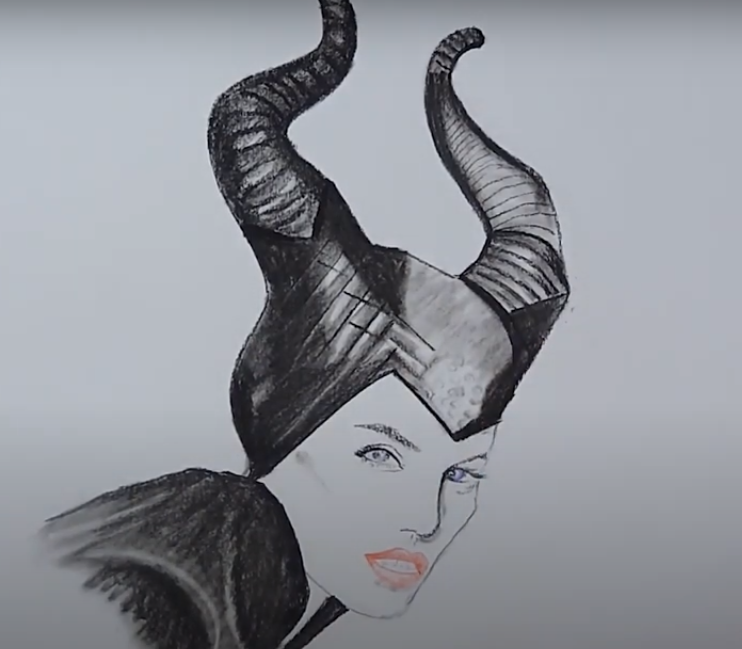 How to draw Maleficent Sketch