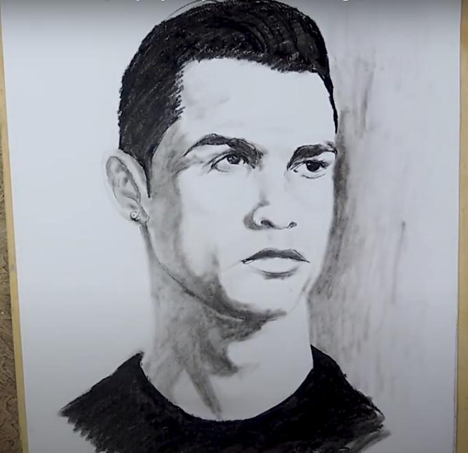 How to draw Cristiano Ronaldo Sketch