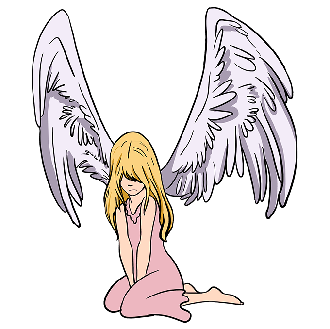 How to Draw a Fallen Angel